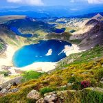Seven Rila Lakes Bulgaria Lake Wildflowers Sky Nature Amazing Beautiful Lovely Slope Landscape Mountain View Hd Wallpaper Download